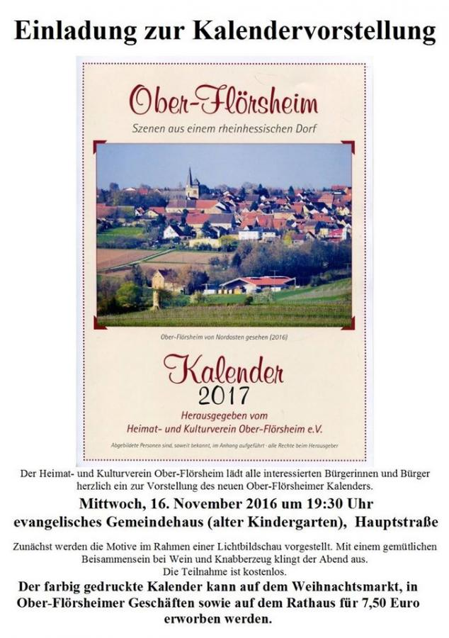 Flyer Kalendervorstellung